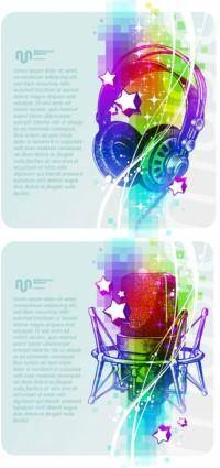Beautiful background music poster vector