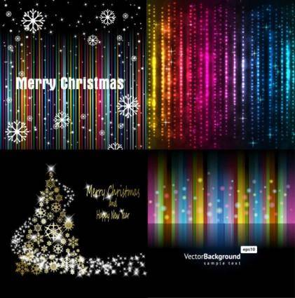 free vector Bright background of the stars and snowflakes vector