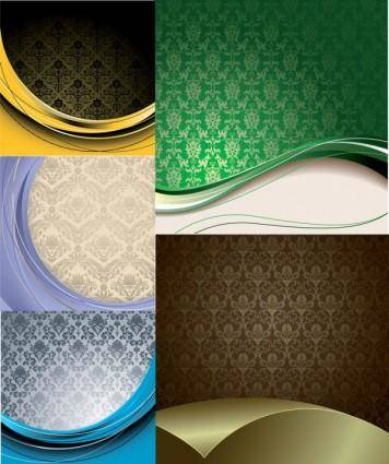free vector Elegant europeanstyle background gyrosigma vector