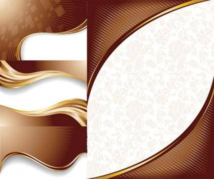 free vector Chocolate dynamic lines of the background vector