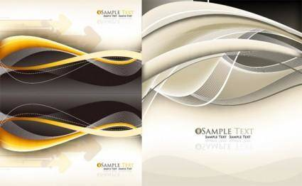 free vector Dynamic lines of the arrows background vector