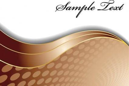 free vector Brown wavy background vector
