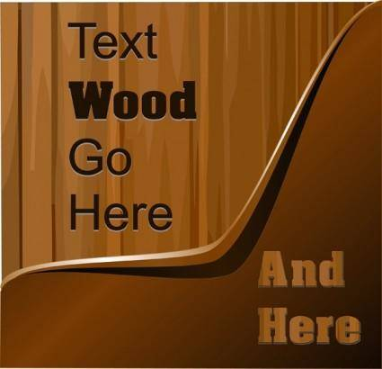 free vector Wood background vector