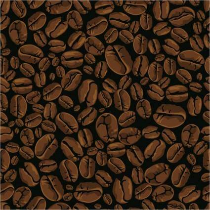 free vector Vector coffee beans background