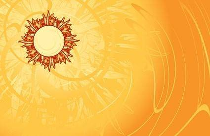 free vector Hot the sun and beautiful background vector