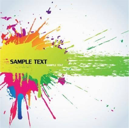 free vector Color splash background vector