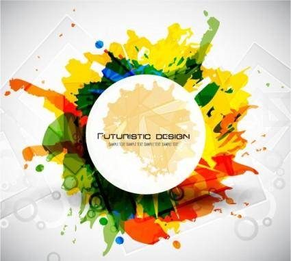 free vector Color ink background 05 vector