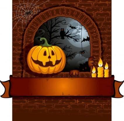 free vector Halloween cartoon background 01 vector