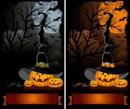 free vector Halloween cartoon background 02 vector
