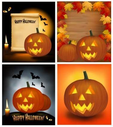Halloween cartoon background 03 vector