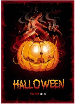 Halloween cartoon background 04 vector