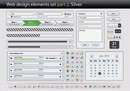 free vector Web design elements vector 2