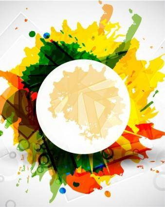 Color ink background 03 vector