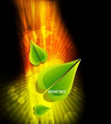 free vector Dynamic gorgeous leaves background 03 vector