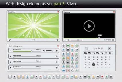 free vector Web design elements vector 3