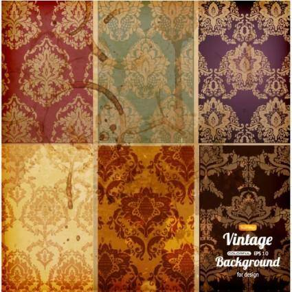 free vector Retro pattern background 01 vector
