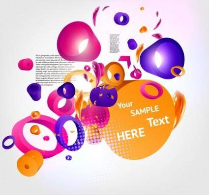free vector Dynamic threedimensional background 02 vector