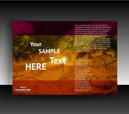 Fine leaflets cover background 03 vector