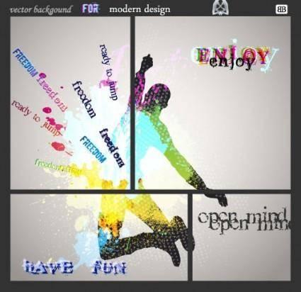 Fashion color splash background 02 vector