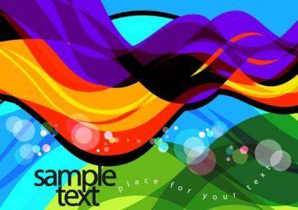Colorful illustration background 03 vector