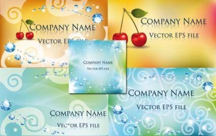 free vector Beautiful card background vector