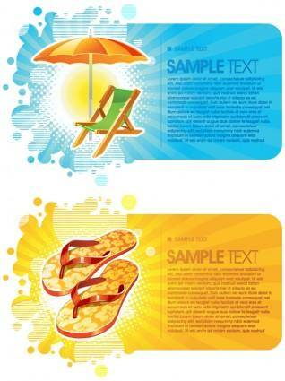 free vector Summer fashion card background vector