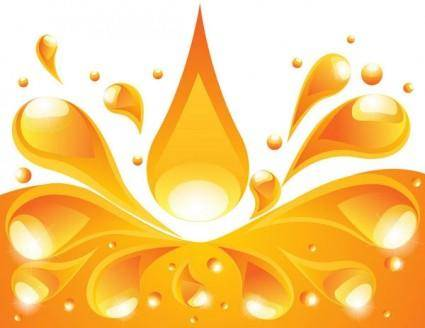 free vector Orange liquid background vector 4