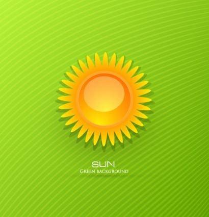 free vector Threedimensional cartoon sunrise background 02 vector