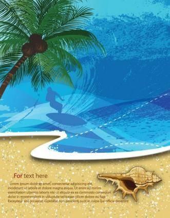 Summer beach background 05 vector