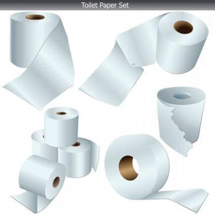 free vector Toilet paper clip art