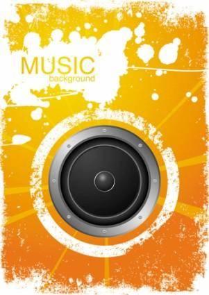 Vibrant music background pattern 03 vector