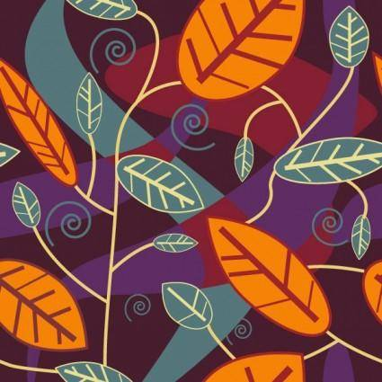 free vector Leaves background vector