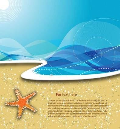 Summer beach background 02 vector