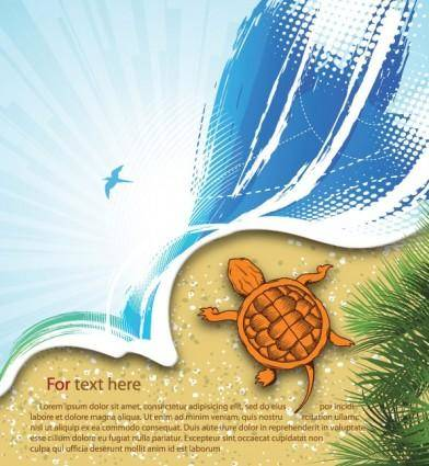 free vector Summer beach background 03 vector