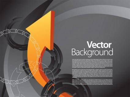 Vector dynamic background 3 arrow