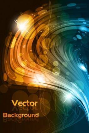 free vector Dynamic glare background vector 2