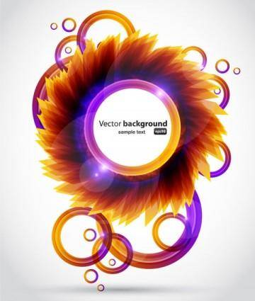 Brilliant petals background 04 vector