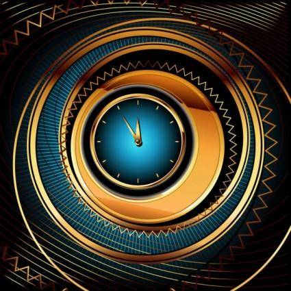 Exquisite watches creative background 02 vector