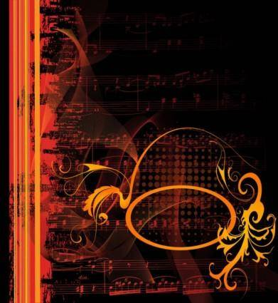 free vector Gorgeous classical music background 01 vector