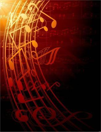 Gorgeous classical music background 04 vector