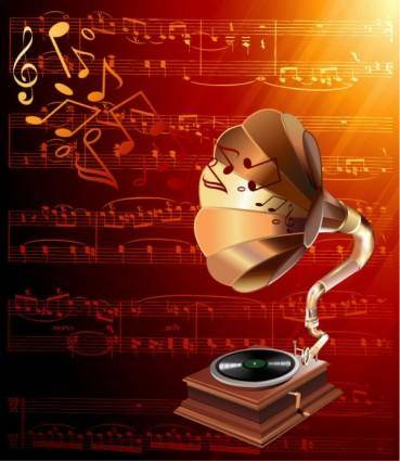 free vector Gorgeous classical music background 03 vector