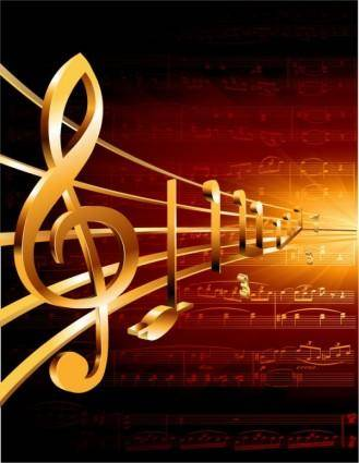 free vector Gorgeous classical music background 05 vector
