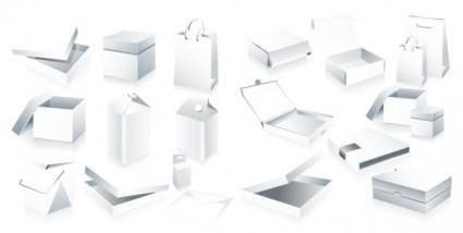 Blank box packaging vector
