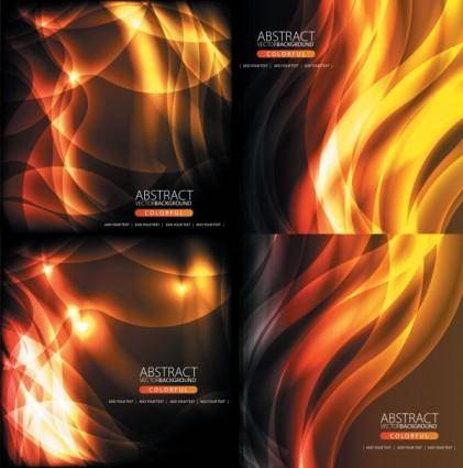 free vector Flame background vector