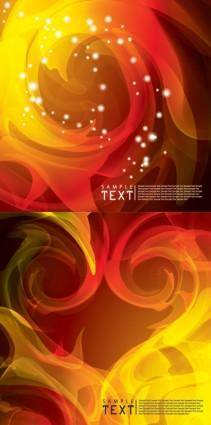 free vector 2 flame background vector