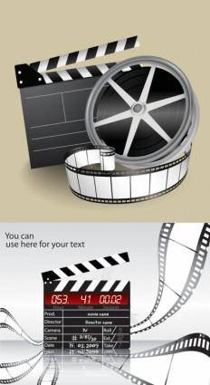 Movie theme vector