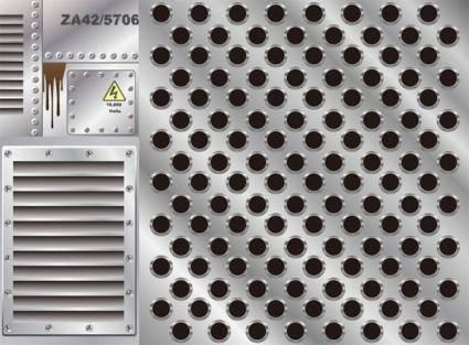 free vector Metal plate series vector