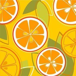 Oranges combine vector background