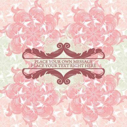 free vector Pink pattern background 02 vector