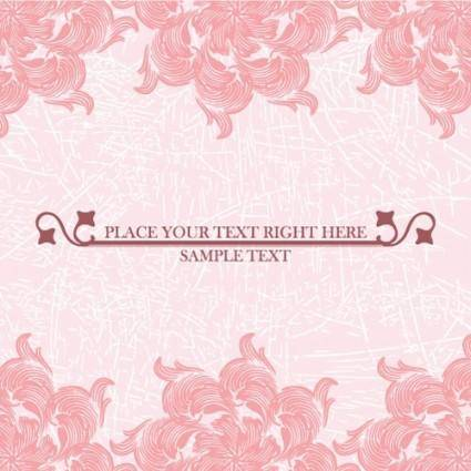 Pink pattern background 04 vector